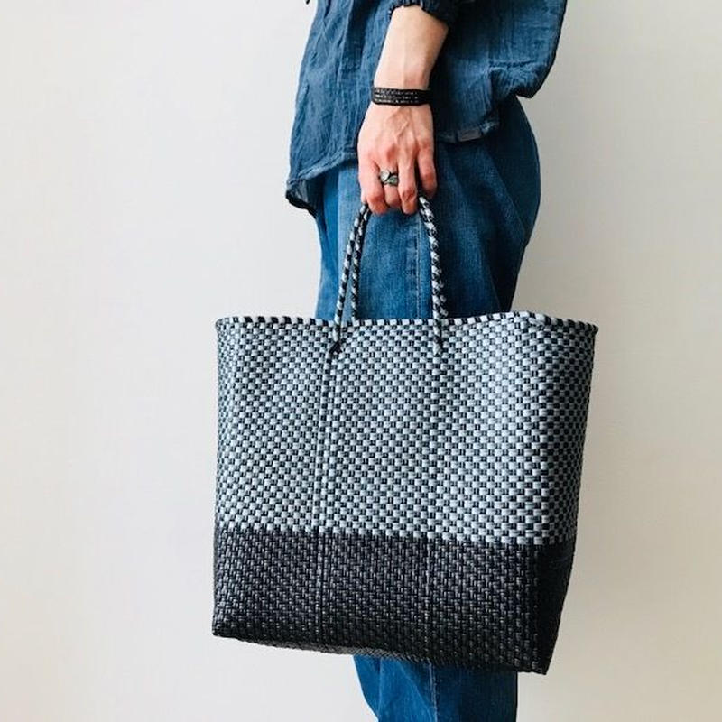 Cilantron / nylon mercado bag  /black  / silver   / シラントロン / メルカドバッグ