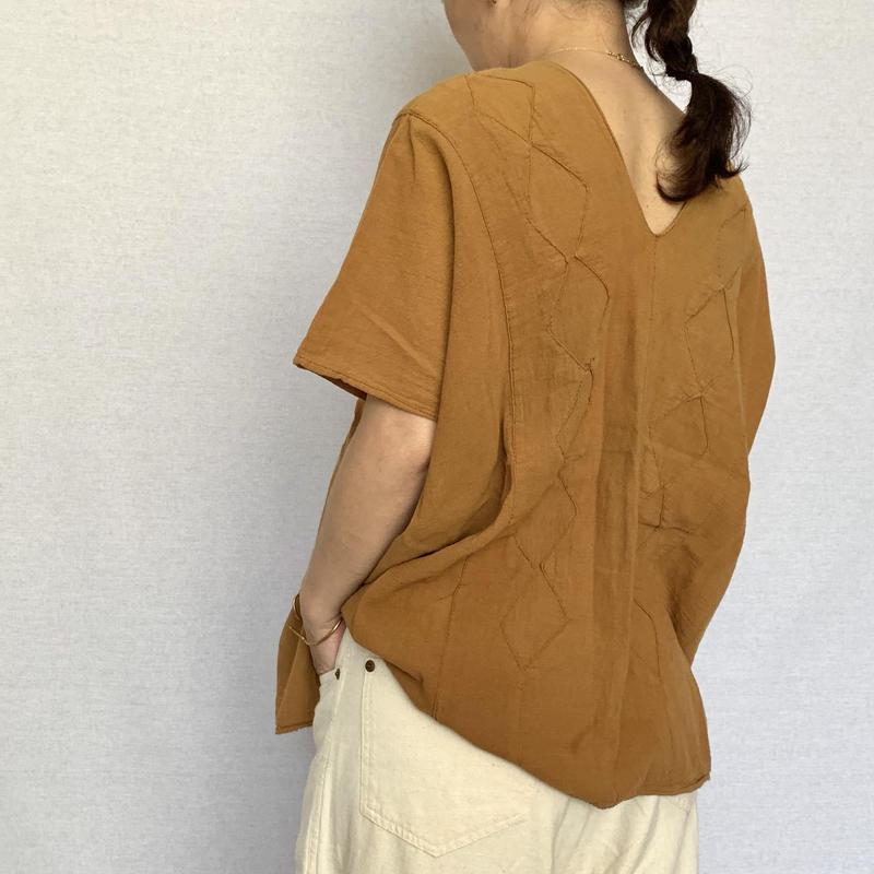pips / plainly woven  cotton huipil / rust / ピップス / 木綿平織りシャツ