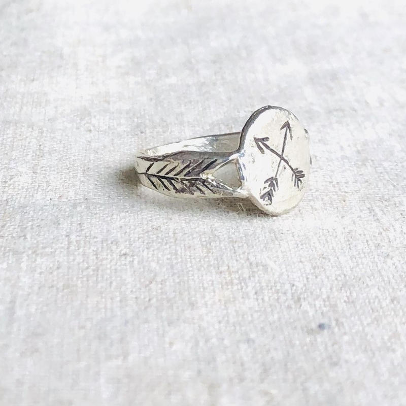 datter industry / crossed  arrows signet ring / silver / ダッターインダストリー/シルバーリング
