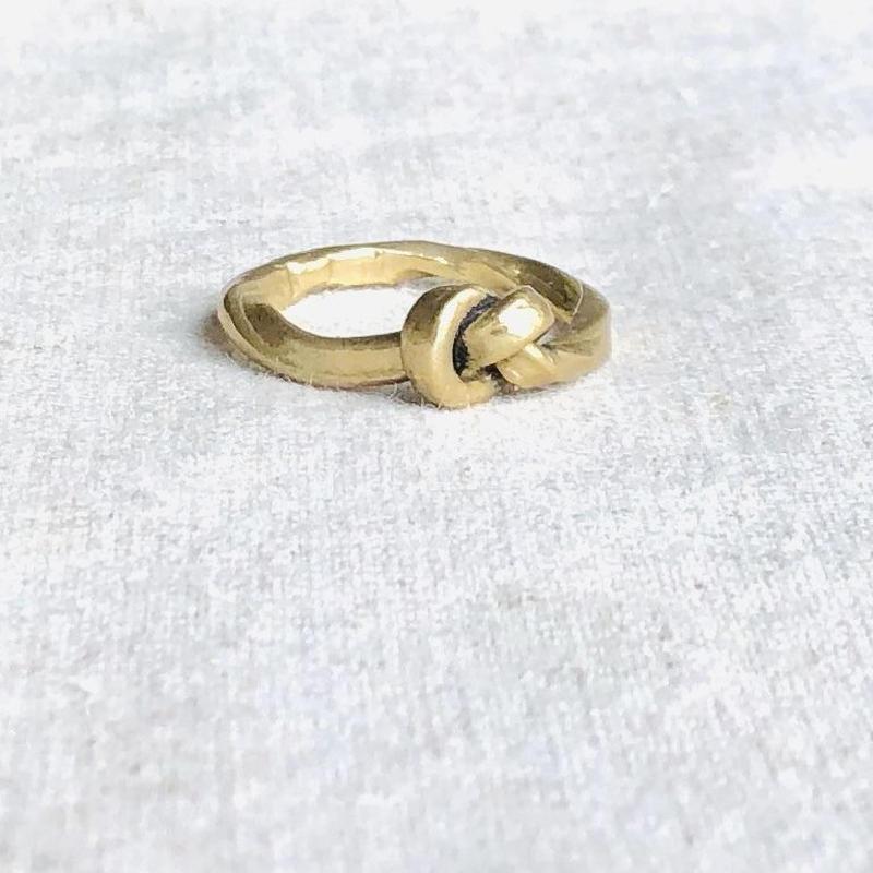 datter  industry / knot ring / brass / ダッターインダストリー /真鍮リング