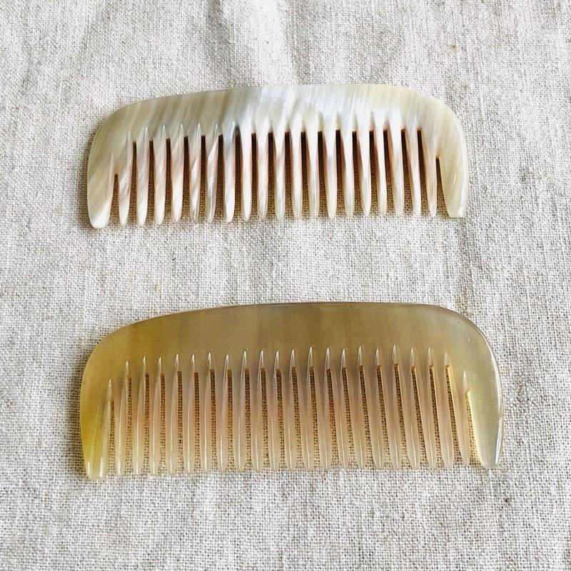 Kostkamm / pocket  comb / 8cm / wide / コストカム /水牛櫛