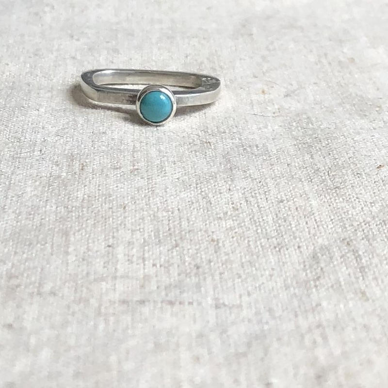 ishi jewelry / ring wabi polki  / turquoise  / silver / イシジュエリー / ターコイズリング
