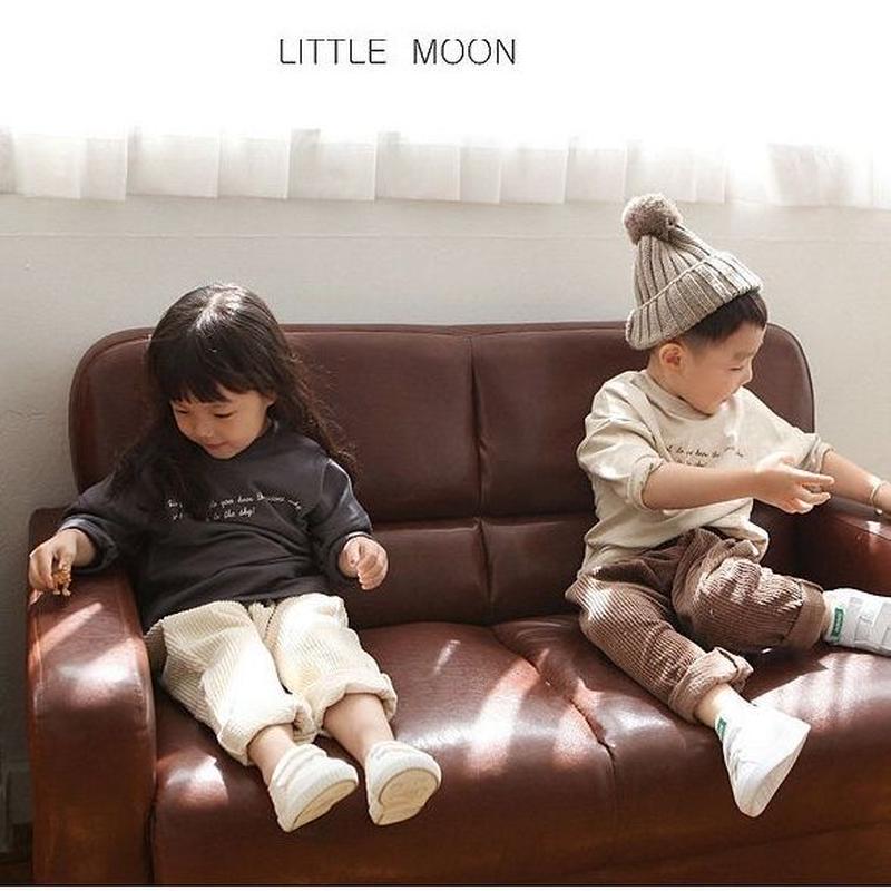 little moon/シンプルロゴトップス