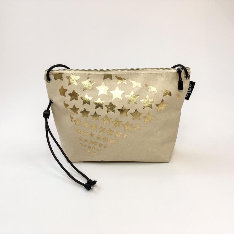 sacoche bag gold foil star