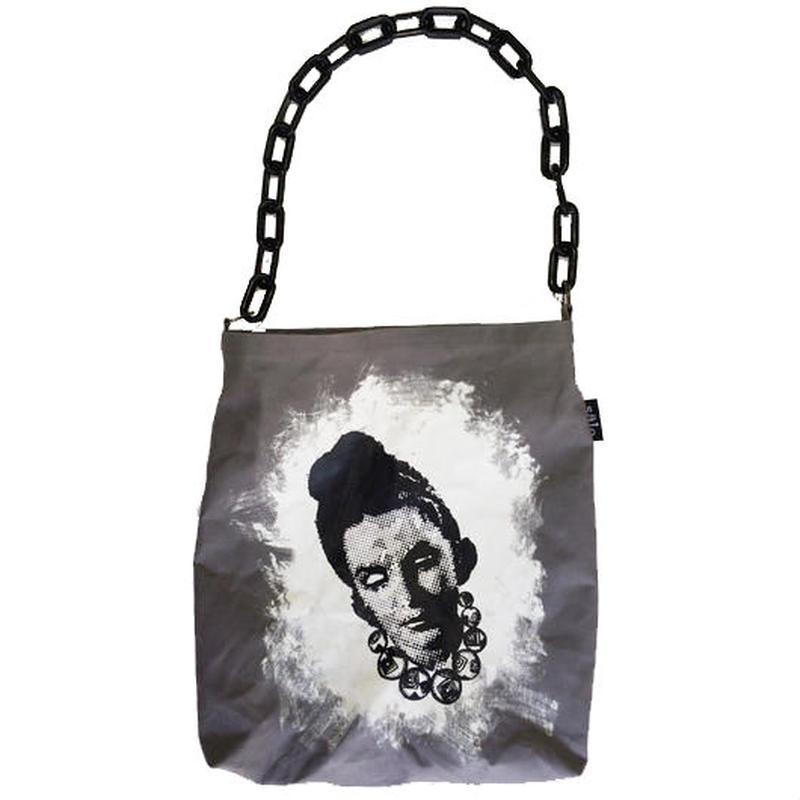 chain handle tote bag