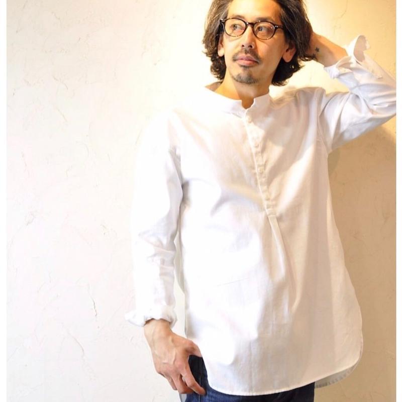 メンズ スタンドカラーシャツ