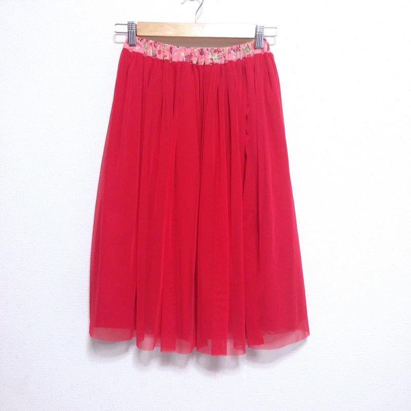 チュールスカート(red)