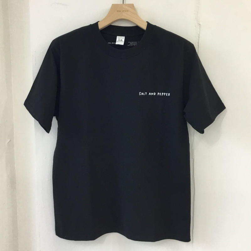 SALT AND PEPPER Tee-2 Black