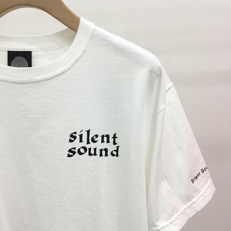 Silent Sound Font Logo Tee White