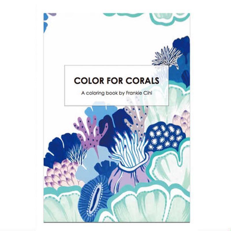 【特別価格+先着限定数ミニ色鉛筆セット付き】海好きファミリーへのプレゼントに◎ 塗り絵アートBOOK『COLOR FOR CORALS  by Frankie Cihi-』