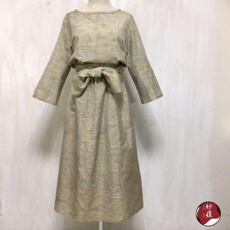 大島紬 ブラウス&スカート&ベルト セットアップ M-Lサイズ 着物リメイク
