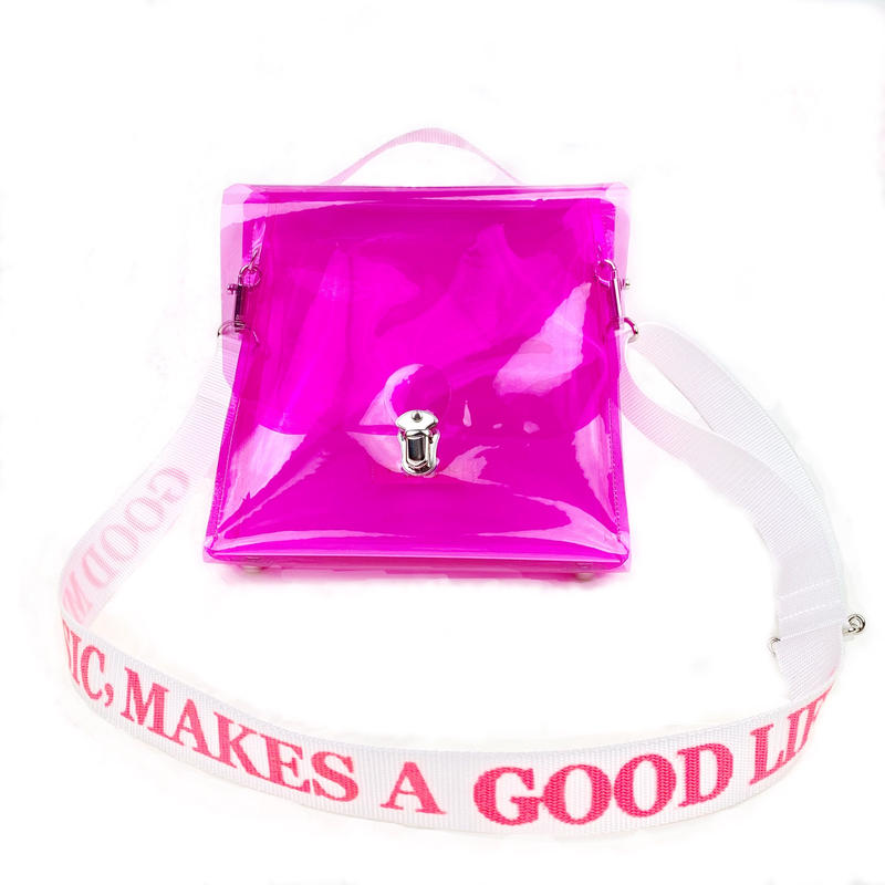7inch  PVC  Record BAG/Magenta×White