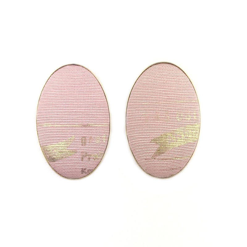 ad print earring(simple type)/pink