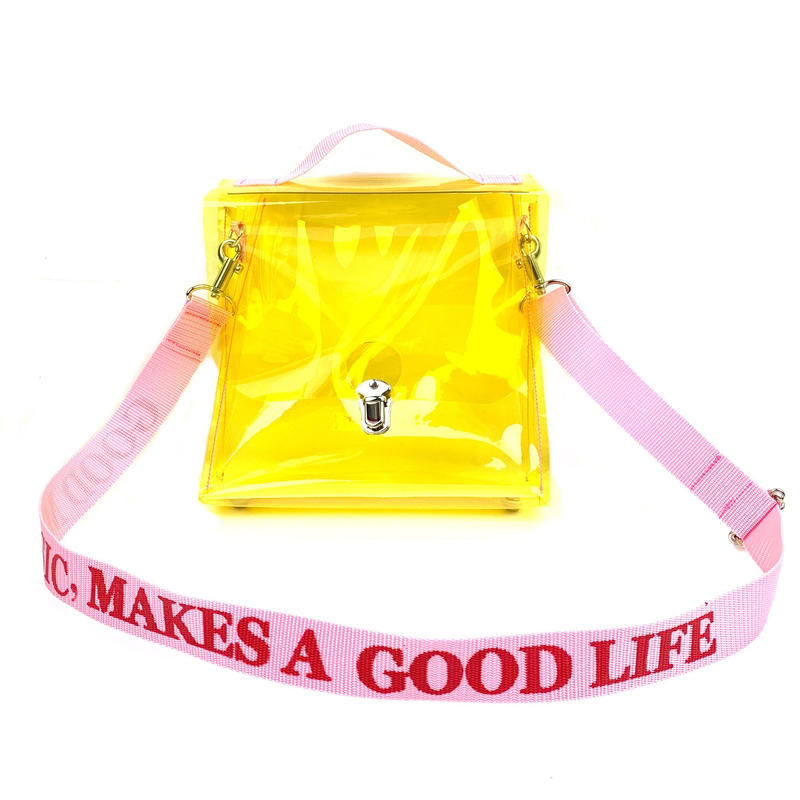 7inch  PVC  Record BAG /Yellow×Light Pink