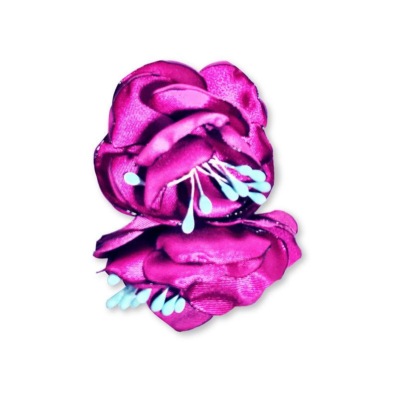フラワー片耳ピアス(イヤリング)/purple