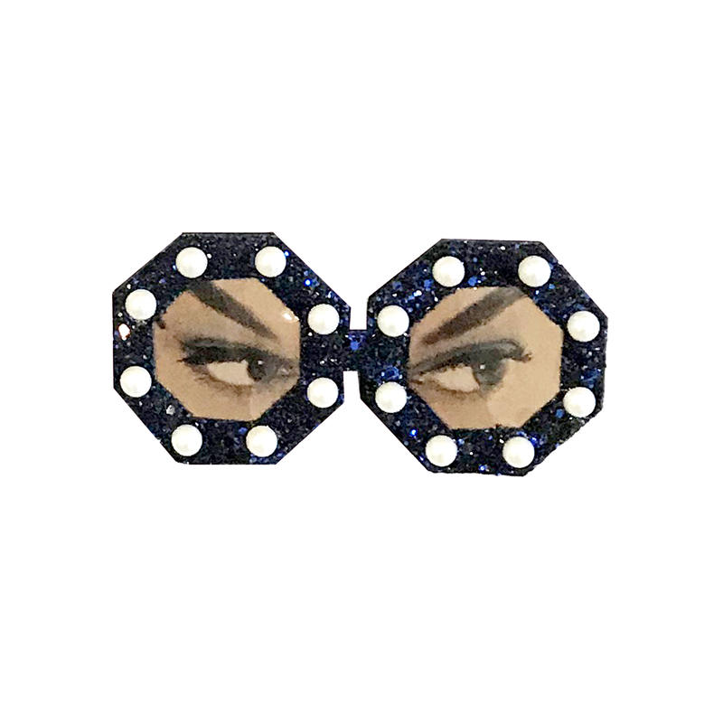 sunglasses brooch/glitter  navy blue