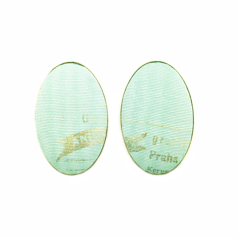 ad print earring(simple type)/mint green