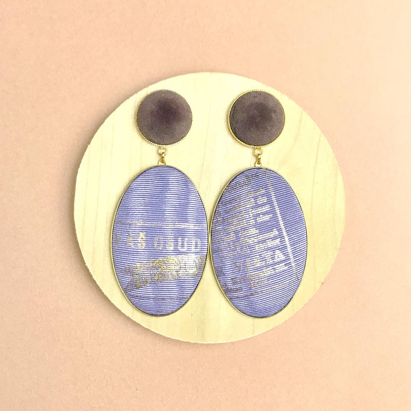 ad print earring(swing type)/lavender