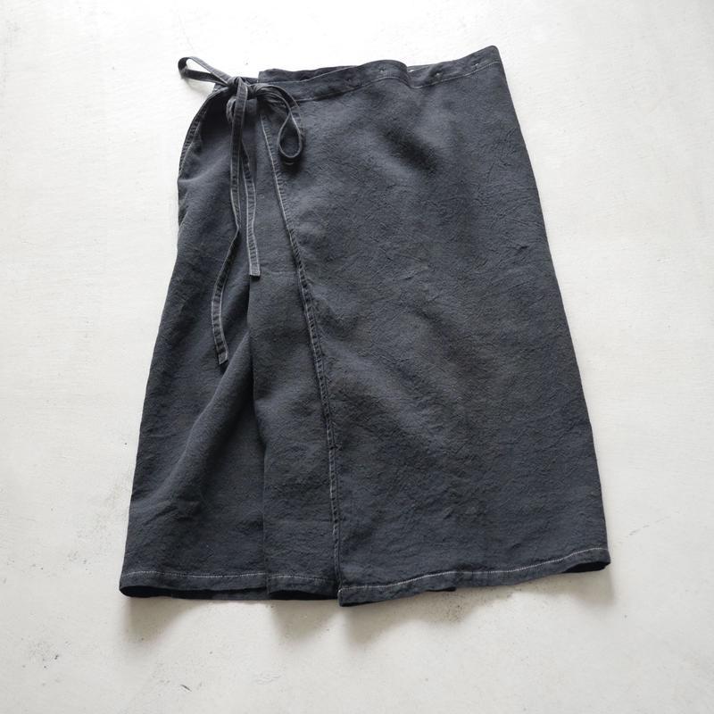 SK83 リンクルリネンフォールドSK(後染め) / about 80cm