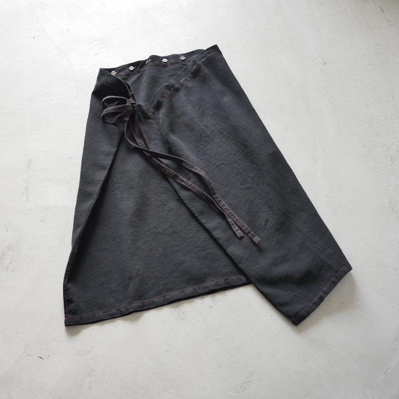 SK82 リンクルリネンフォールドSK(後染め) / about 70cm