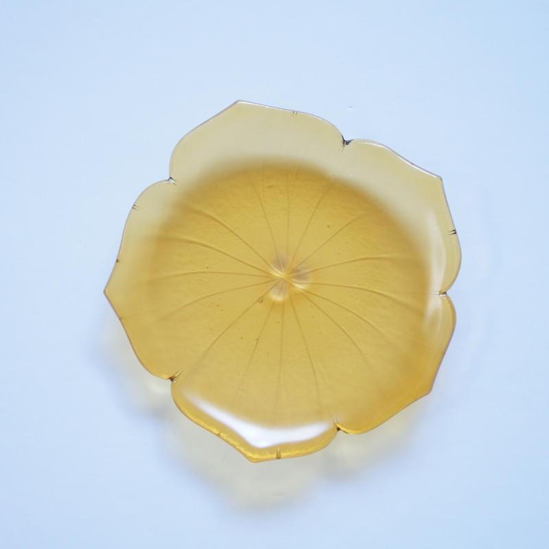 花型小皿 イエロー