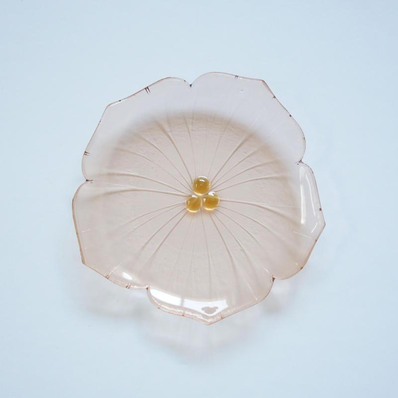 花型小皿 ベージュピンク
