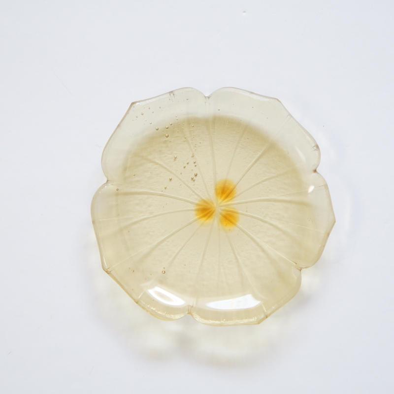 B品 花型豆皿 ライトイエロー