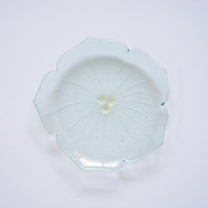 花型小皿 ライトグリーン