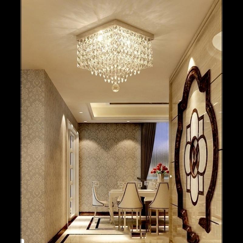 高級モダンクリスタルLEDシーリングライトシャンデリアランプ照明器具シャンデリアバルコニーポーチ廊下カフェホーム