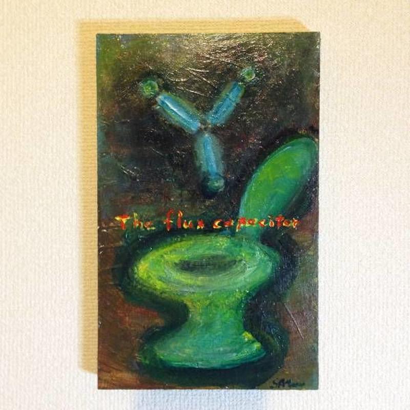 「ドクの閃き」アクリル画/木製パネル