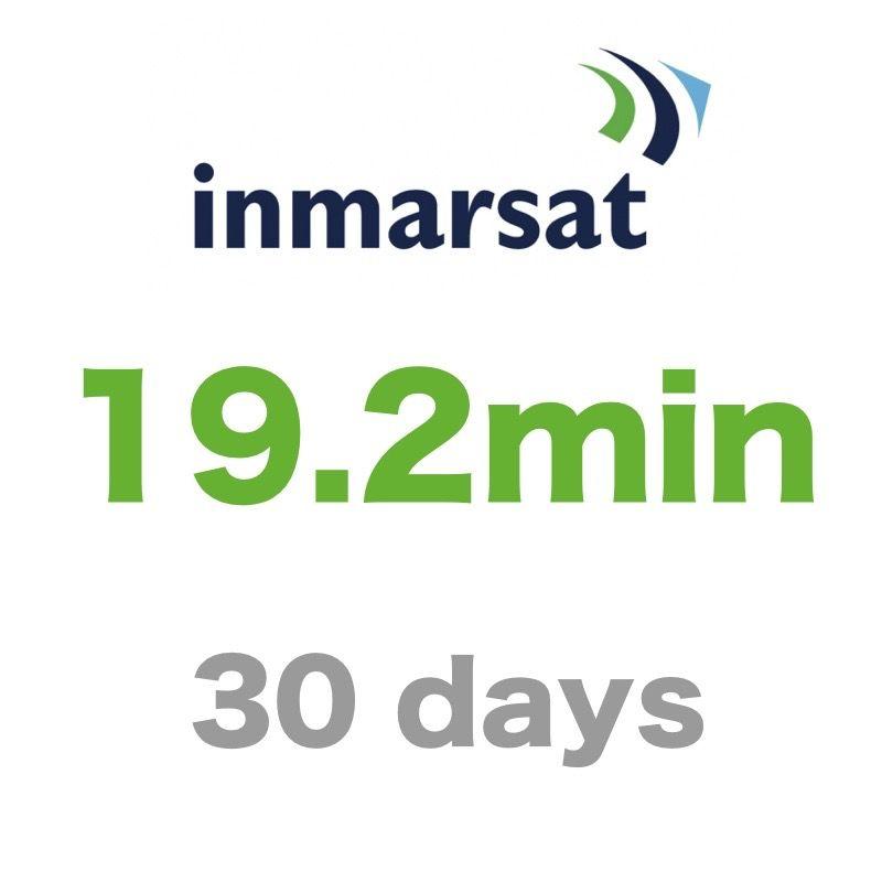 インマルサット 19.2分/30日有効 チャージ 手数料込み