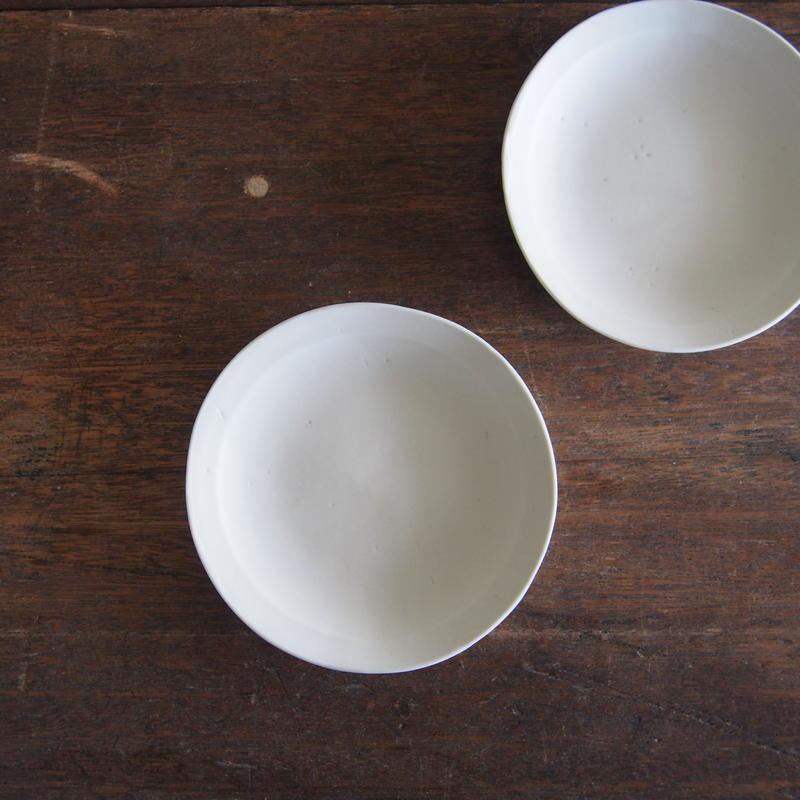 照井壮 粗磁土リム小皿
