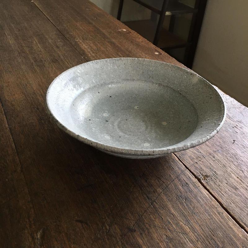 田鶴濱守人 粉引7寸リム鉢