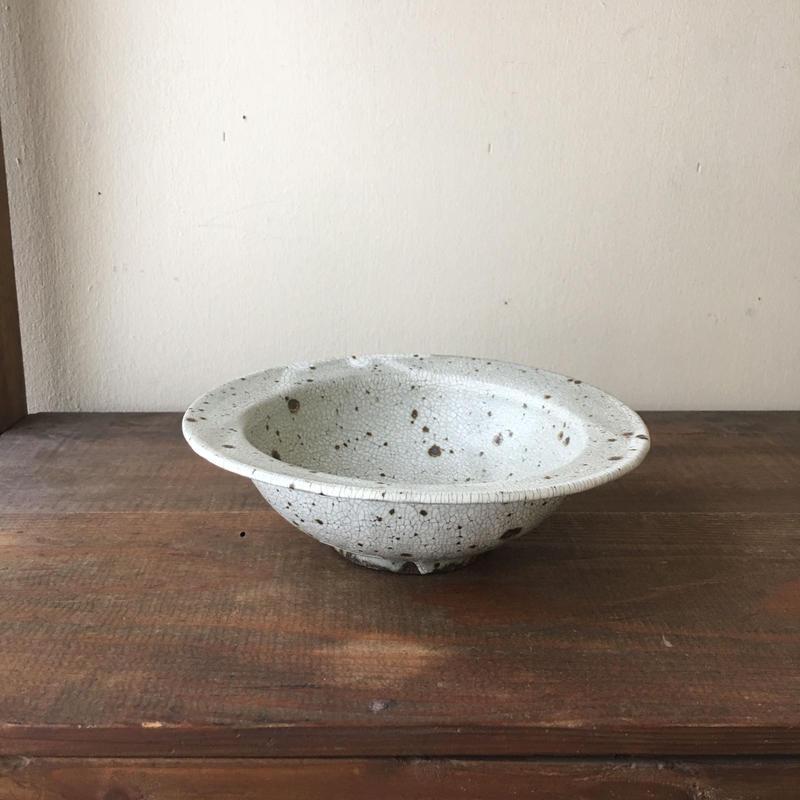 加藤祥孝 グレー粉引5.5寸リム鉢