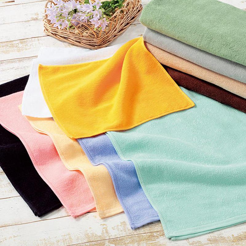 32s/2 レピア織 スレンカラーバスタオル(800匁)12枚セット