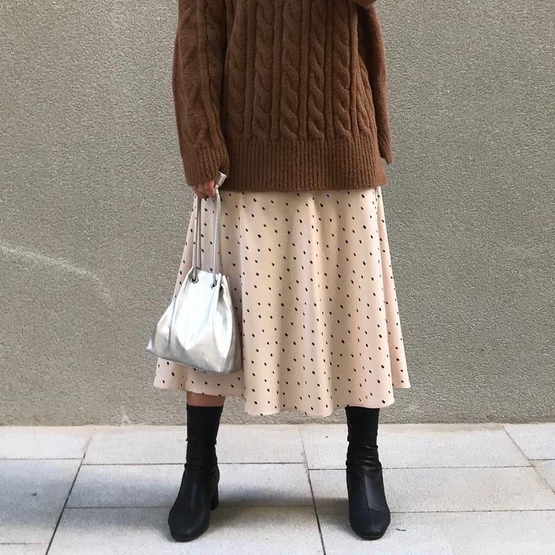【予約アイテム】シンプルドット ロングスカート