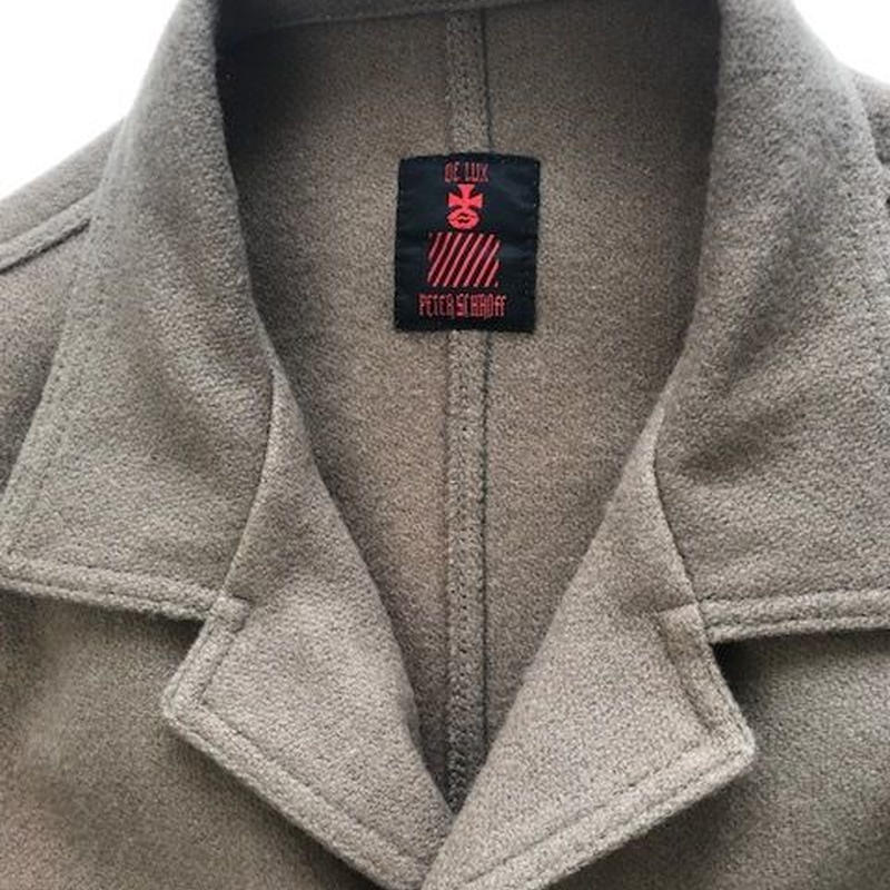 Vintage 80's  Wooly Jacket Beige                wool 100%  made in U.S.A dead stock