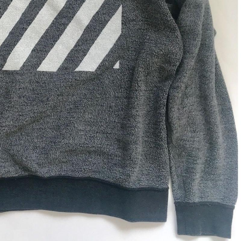 Vintage raglan 80's sweat shirts Dark gray