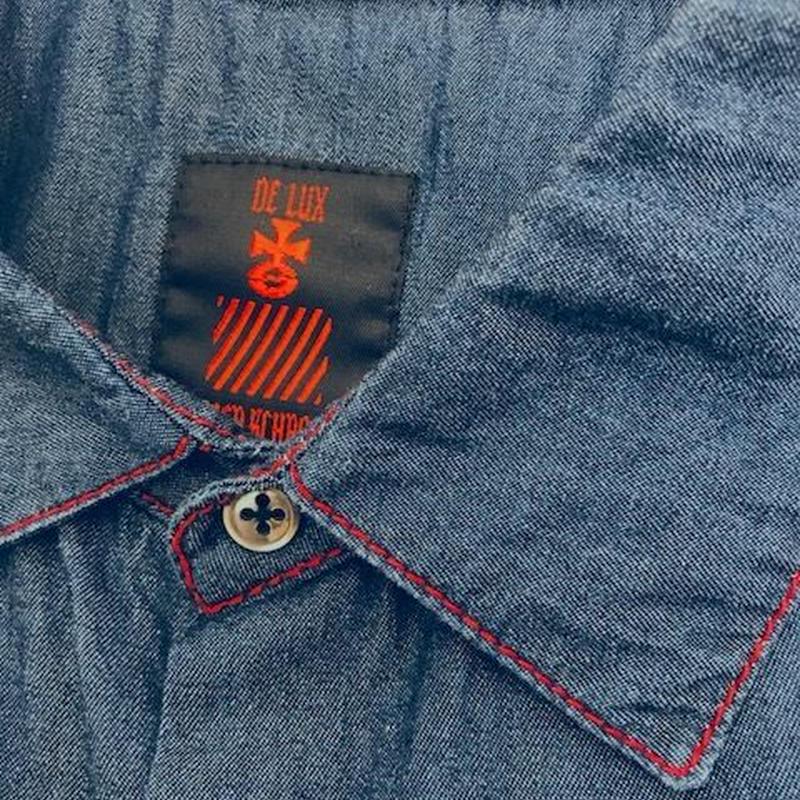 Chesterfield  denim  shirts dark navy cotton 100% made in U.S.A(SAMPLE)