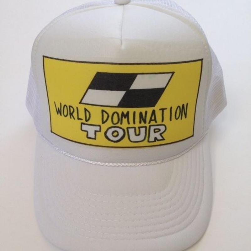 "TRUCKER mesh CAP  ""WD TOUR""  (White)"
