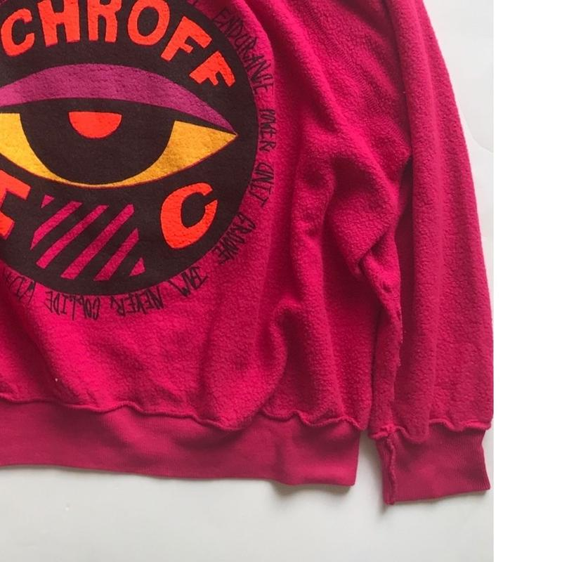 Vintage raglan sweat shirts  Fuschia