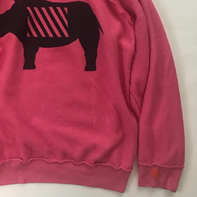 Vintage raglan sweat shirts Pink