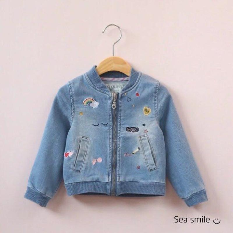 【即納】刺繍デニムジャケット