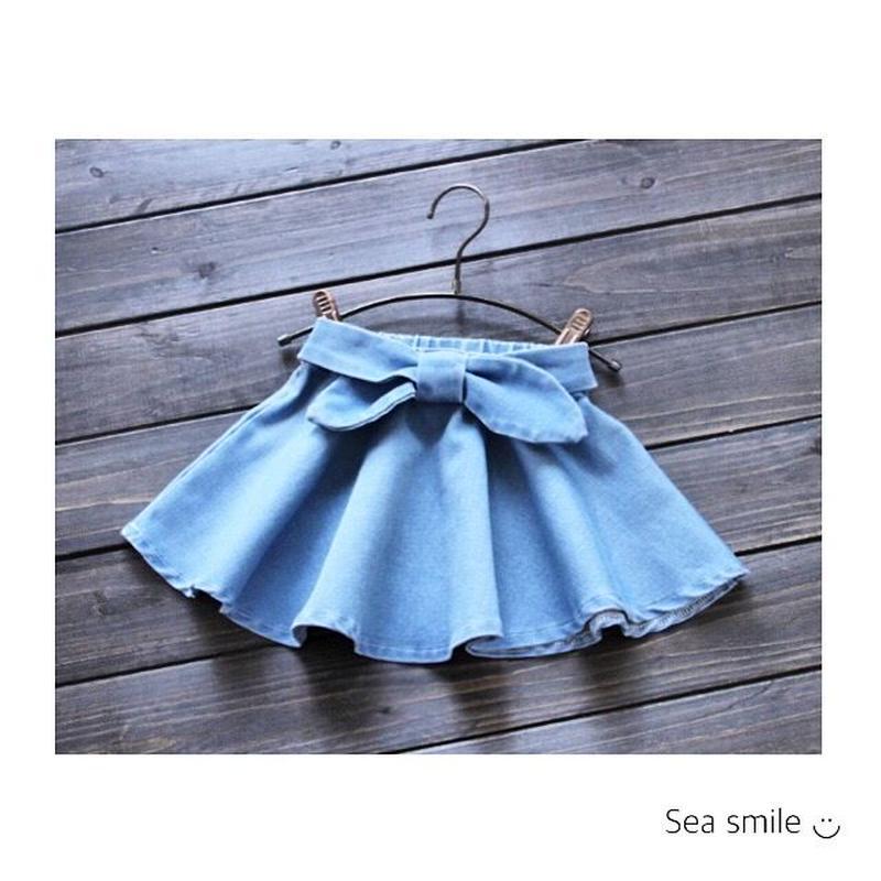 【即納】denimAラインスカート