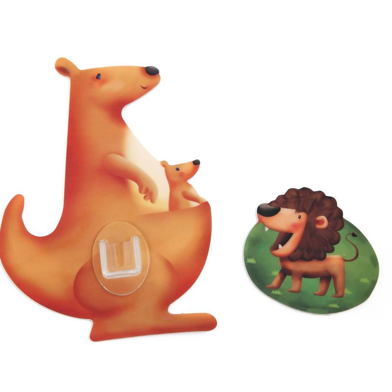 シールフック 粘着力強力  可愛い動物デザイン(カンガルー)
