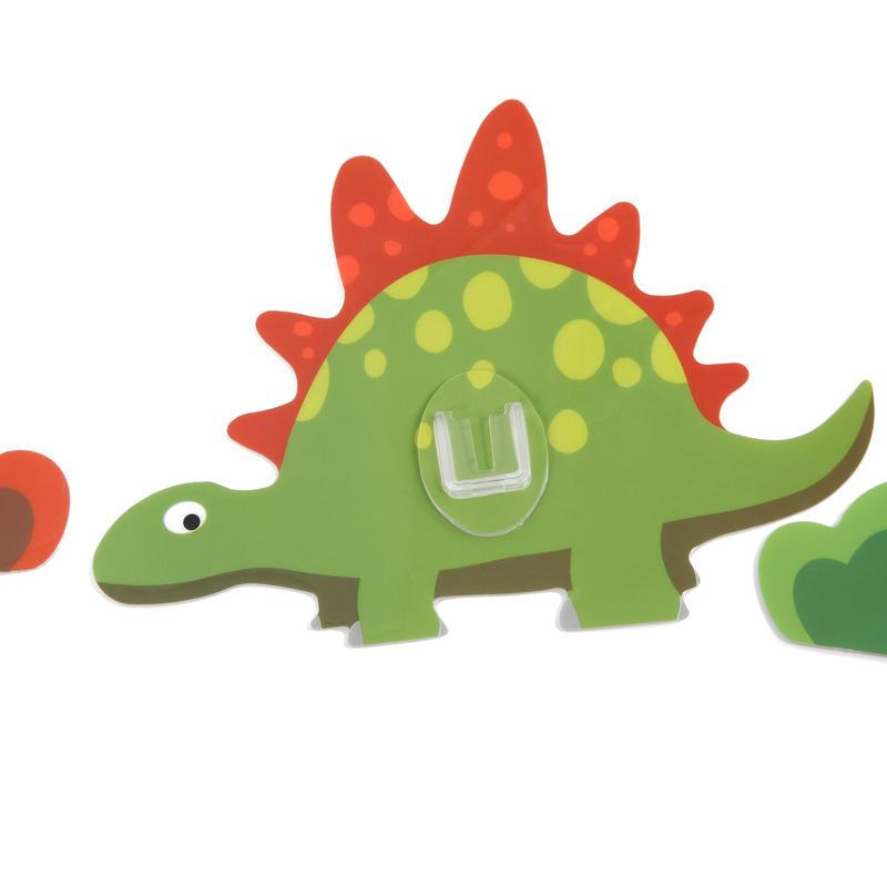 シールフック 粘着力強力  可愛い動物デザイン(ステゴラス)