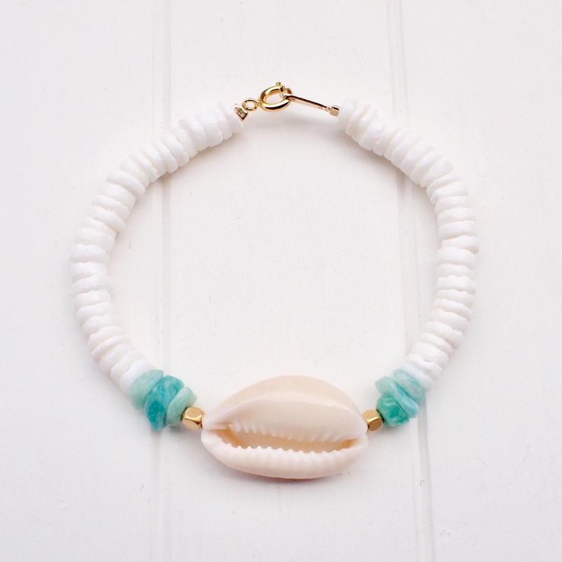 【ハンドメイド】シェルブレス / WHITE