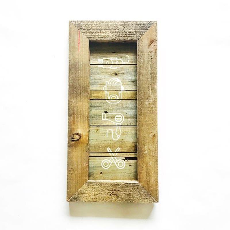 vintage wood board [BARBER]