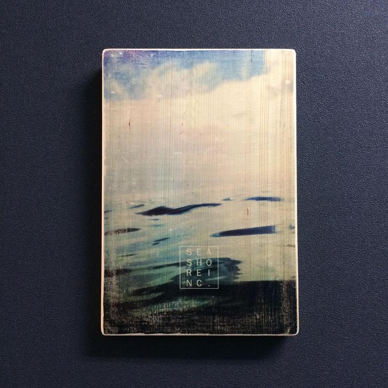 wood plate : OCEAN