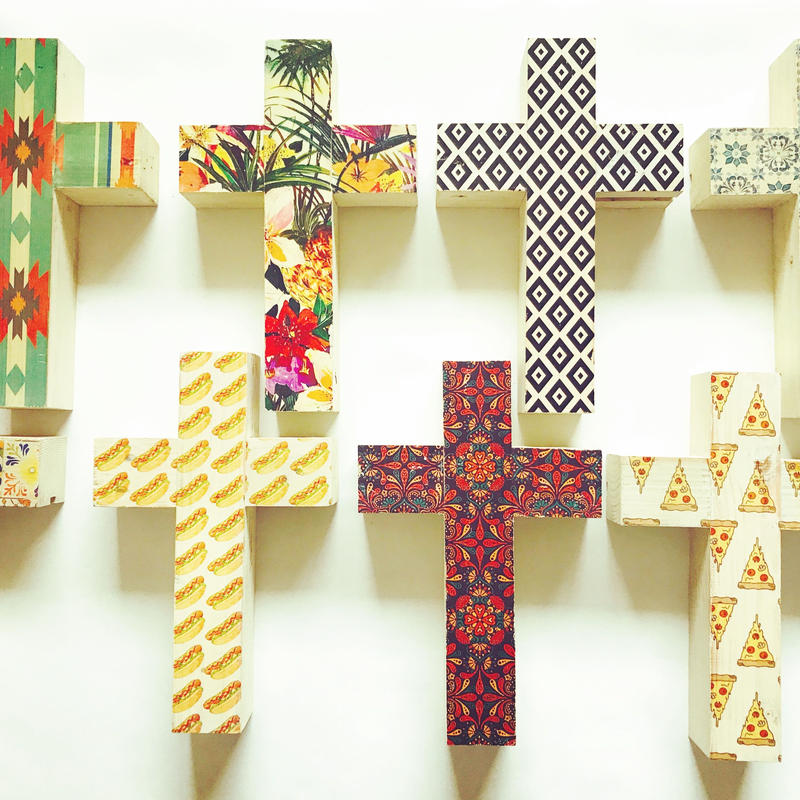 print wood cross 【pattern】
